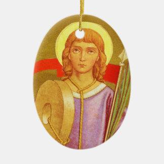 Doppelseitiger Florian von Lorch (P.M. 03a) Ovales Keramik Ornament
