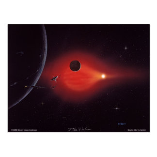 Doppelstern-Zivilisation Postkarte