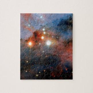 Doppelsterne WR 25 u. Tr16-244 - Hubble Raum-Foto Puzzle