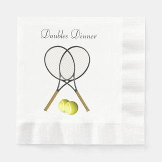 Doppelt-Tennis-Sport-Gewohnheit Serviette