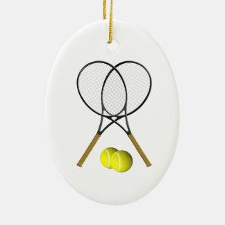 Doppelt-Tennis-Sport-Thema Keramik Ornament