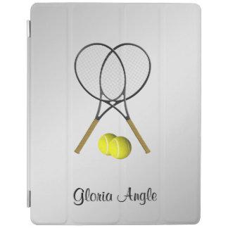 Doppelt-Tennis-Sport-Thema personalisiert iPad Smart Cover