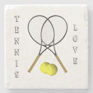 Doppelt-Tennis-Sport-Thema persönlich Steinuntersetzer