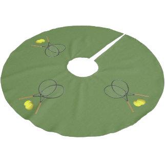 Doppelt-Tennis-Sport-Thema Polyester Weihnachtsbaumdecke