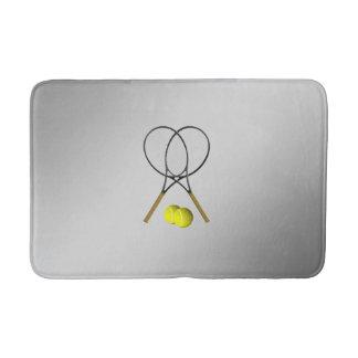 Doppelt-Tennis-Sport-Thema-Silber Badematte