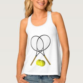 Doppelt-Tennis-Sport-Thema Tanktop