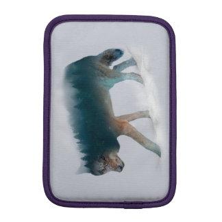 Doppelte Belichtung des Wolfs - Wolfwald - Wolf Sleeve Für iPad Mini