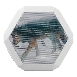 Doppelte Belichtung des Wolfs - Wolfwald - Wolf Weiße Bluetooth Lautsprecher