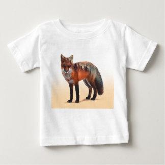 Doppelte Belichtung Fox - Fuchskunst - roter Fuchs Baby T-shirt