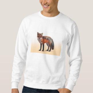 Doppelte Belichtung Fox - Fuchskunst - roter Fuchs Sweatshirt