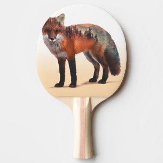 Doppelte Belichtung Fox - Fuchskunst - roter Fuchs Tischtennis Schläger