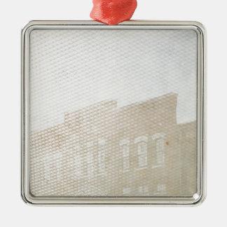 Doppelte Belichtungs-Spaß in Washington, Iowa Quadratisches Silberfarbenes Ornament
