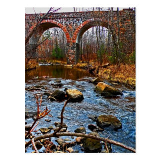 Doppelte Bogen-Brücke Postkarte