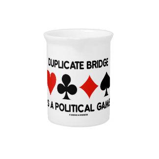 Doppelte Brücke ist ein politisches Spiel Getränke Pitcher