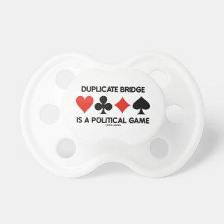 Doppelte Brücke ist ein politisches Spiel Schnuller