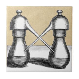 Doppelte Eagle-Alchimie-Laborflasche Fliese