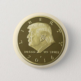 Doppelte Eagle Goldmünze Donald Trump Runder Button 5,7 Cm