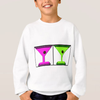 DOPPELTE GRAFISCHE DRUCK-COLLAGE MARTINIS SWEATSHIRT