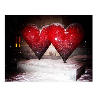Doppelte Herzen Postkarte