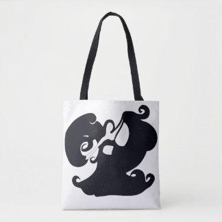 Doppelte mit Seiten versehene Schwarzweiss-Tasche Tasche