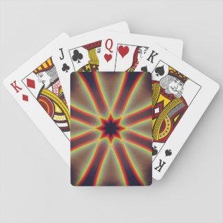 Doppelte Regenbogen-Mandala Spielkarten
