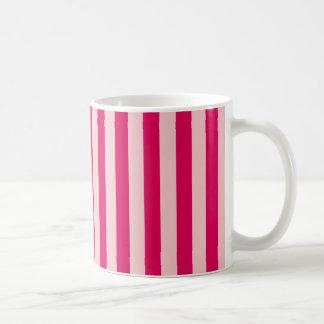 Doppelte rosa Streifen Kaffeetasse
