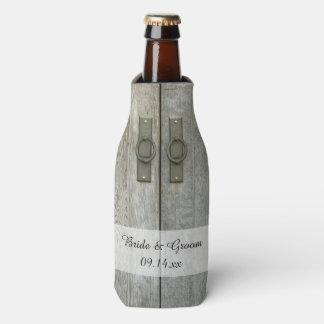 Doppelte Scheunen-Tür-Land-Gastgeschenke Hochzeit Flaschenkühler