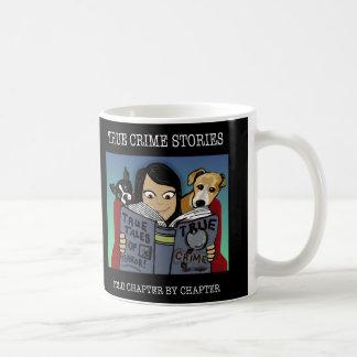Doppelte Seitenverbrechen-Geschichten-Tasse Kaffeetasse