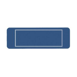 Doppelte weiße beschattete Grenze auf Iris-Blau