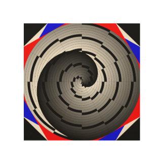 Doppelte Yin Yang Spirale Holzleinwand