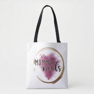 Doppelten Logo Mommas Mahlzeit-mittlere Tasche