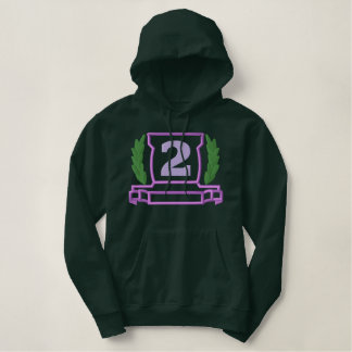 Doppelter Applique Nr. 2 Hoodie
