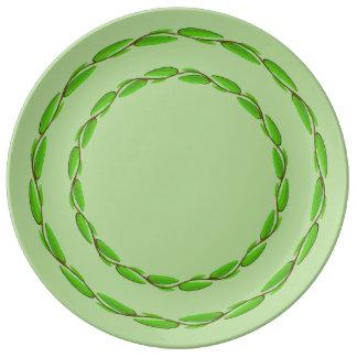 Doppelter Blatt-Kreis durch Kenneth Yoncich Porzellanteller