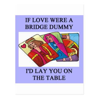 doppelter Brückenspielspieler Postkarte