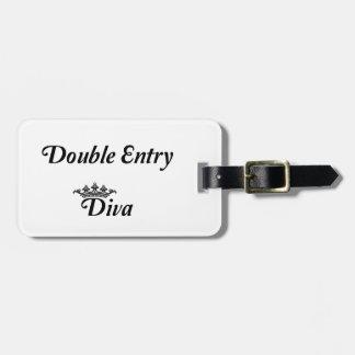 Doppelter Eintritts-Diva Gepäckanhänger