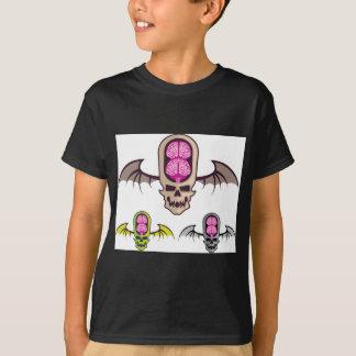 Doppelter Gehirnschädel T-Shirt