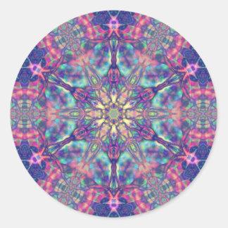 Doppelter Hexagram von Panspermia Aufklebern Runder Aufkleber