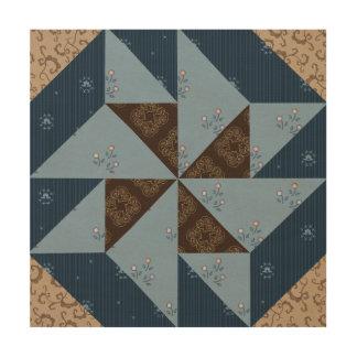Doppelter Pinwheel-Steppdecken-Block-hölzerne Holzdruck