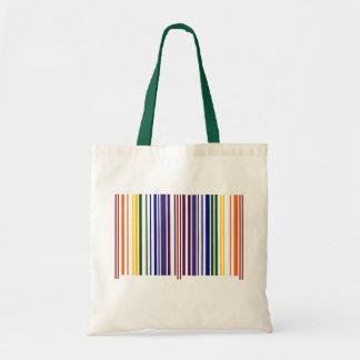 Doppelter Regenbogen-Barcode Budget Stoffbeutel