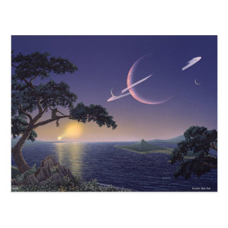 Doppelter Sonnenuntergang Postkarte