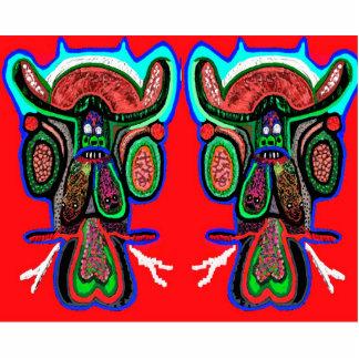 Doppelter Stier-Verein Freistehende Fotoskulptur
