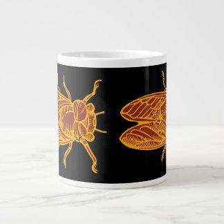Doppelter Zikaden-Glück-Kaffee Jumbo-Tasse