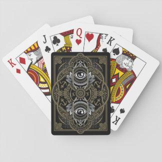 Doppeltes Auge Spielkarten