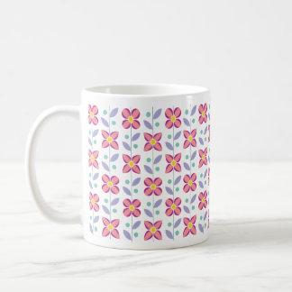 Doppeltes Blumen-Muster-Rosa Kaffeetasse