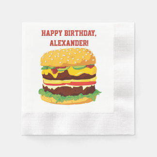 Doppeltes Cheeseburger-kundenspezifisches Papierserviette