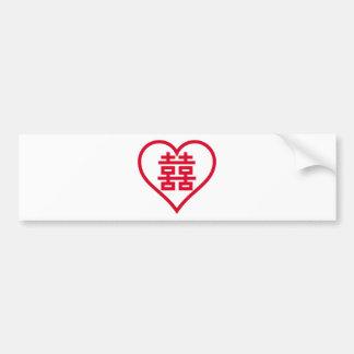Doppeltes Glück - 囍 - 双喜 - 雙喜 Autoaufkleber