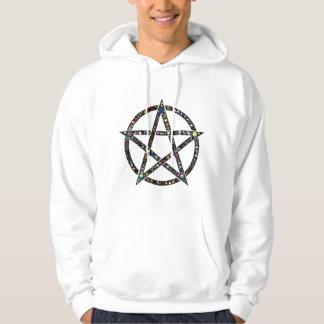 Doppeltes glückliches Pentagramm Hoodie