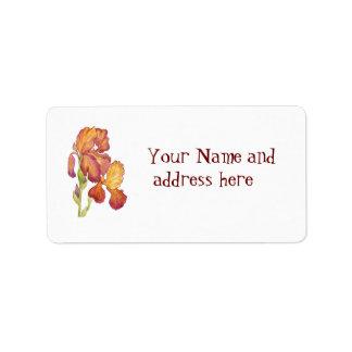 Doppeltes Iris-Adressen-Etikett Adressaufkleber