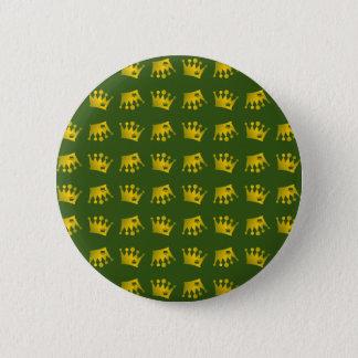 Doppeltes Kronen-Muster Runder Button 5,7 Cm