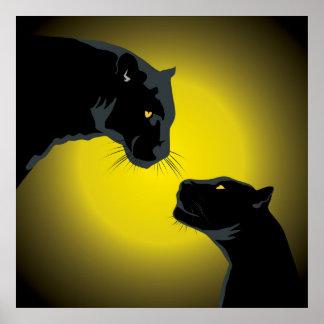 Doppeltes schwarze Panther-Plakat Poster
